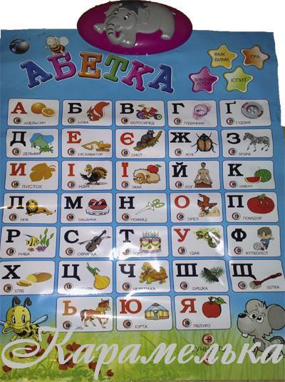 Сенсорный плакат на украинском языке